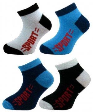 6f0817ec1a9 128N Dětské kotníkové ponožky vzor sport