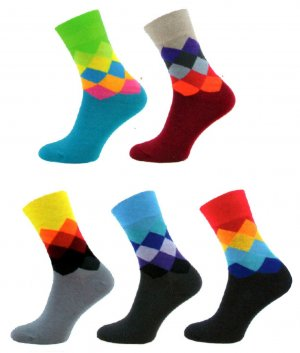 f2360ebd88a 1001 Ponožky Happy Socks káro